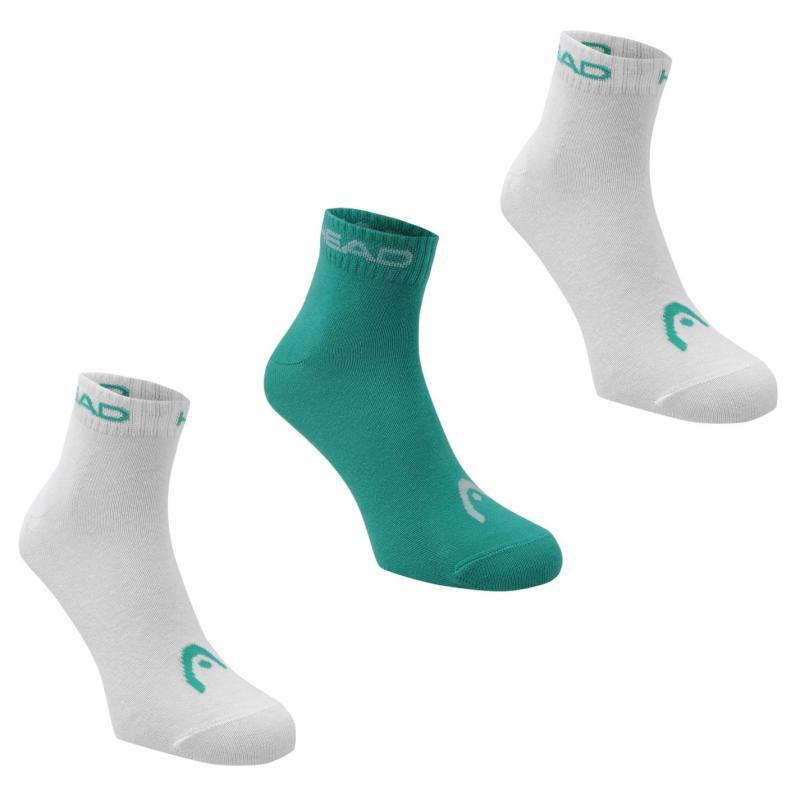 Ponožky HEAD Quarter 3 Pack Socks Sea Green