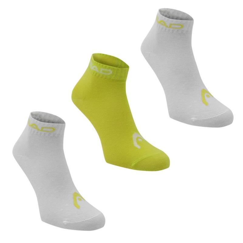 Ponožky HEAD Quarter 3 Pack Socks Lime