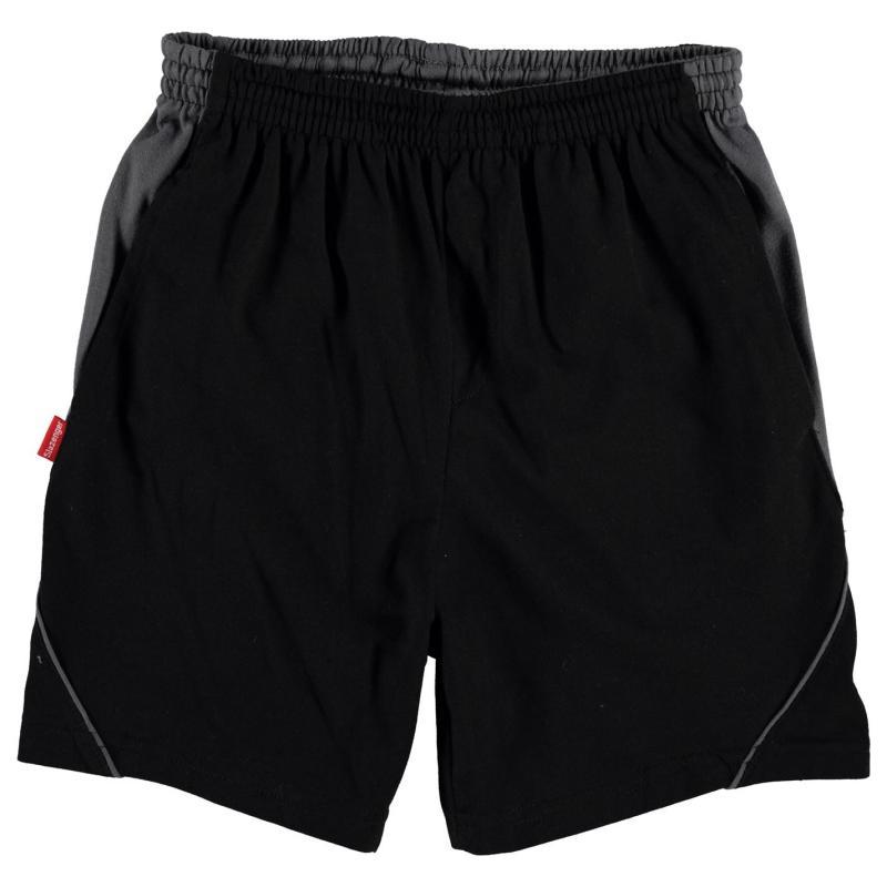 Kraťasy Slazenger Jersey Shorts Junior Black