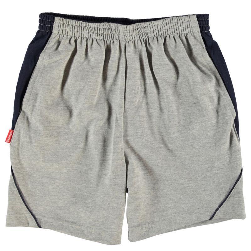 Kraťasy Slazenger Jersey Shorts Junior Grey Marl
