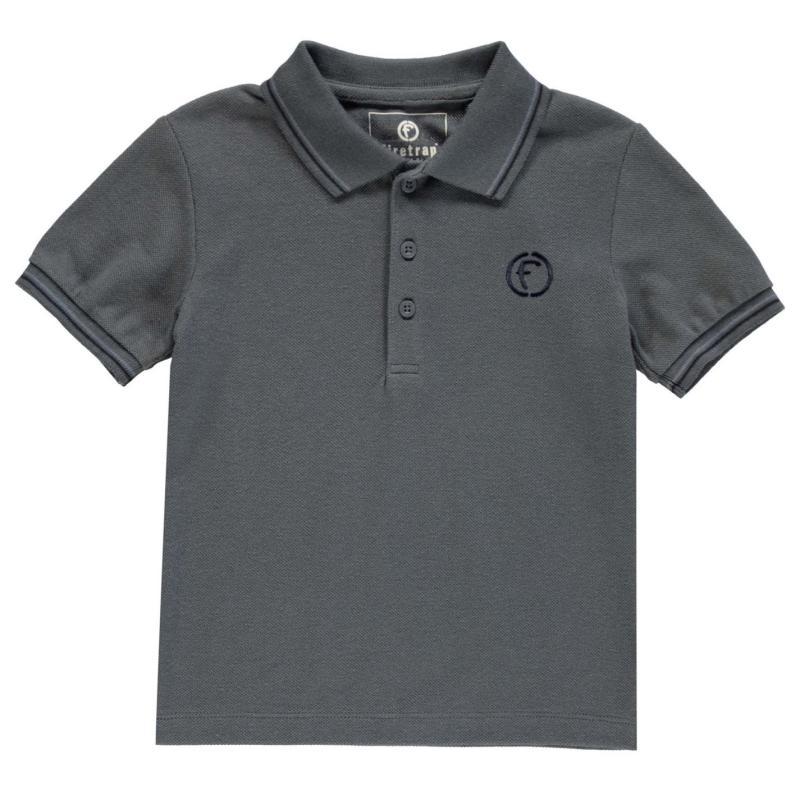 Firetrap Mini Lazer Polo Shirt Infant Boys Dark Slate