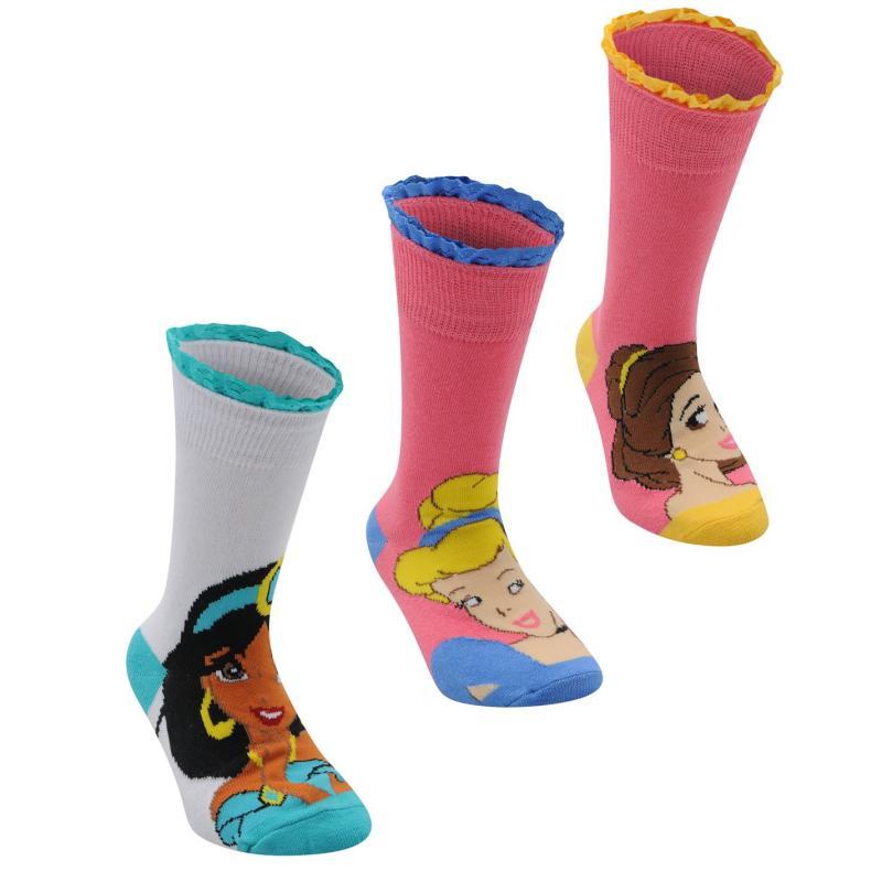 Disney 3 pack Crew Sock Girls Princess