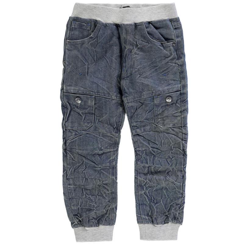 Kalhoty No Fear Jogger Jeans Infant Boys Mid Wash