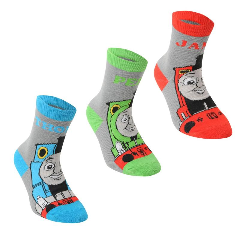 Ponožky Character Engine 3 Pack Crew Sock Infant Boys Blue