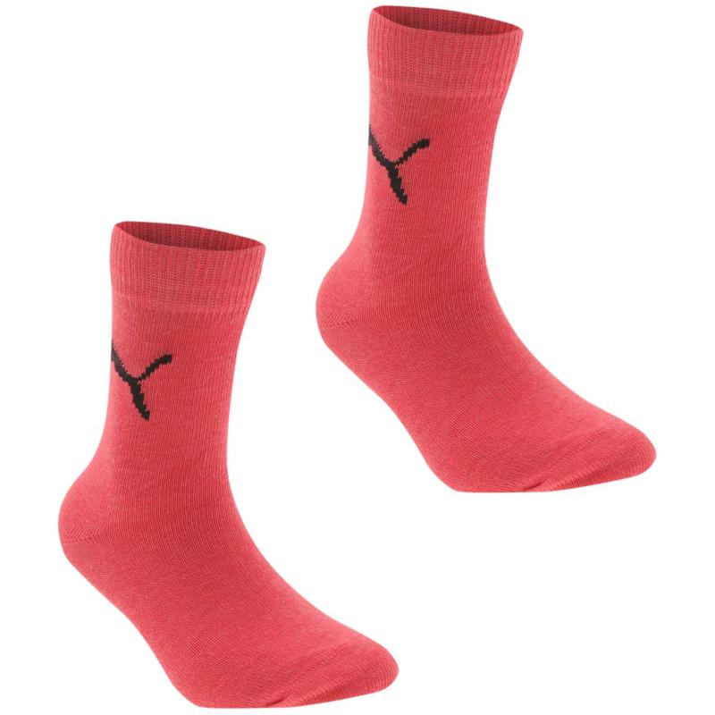 Ponožky Puma Easy Racer 2 Pack Junior Socks Pink