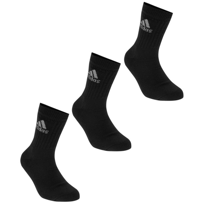 Ponožky adidas Crew 3 Pack Socks Black