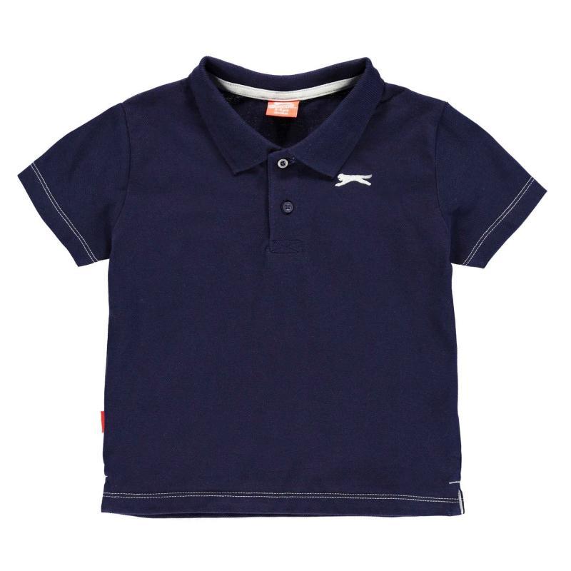 Slazenger Plain Polo Shirt Infant Boys Navy