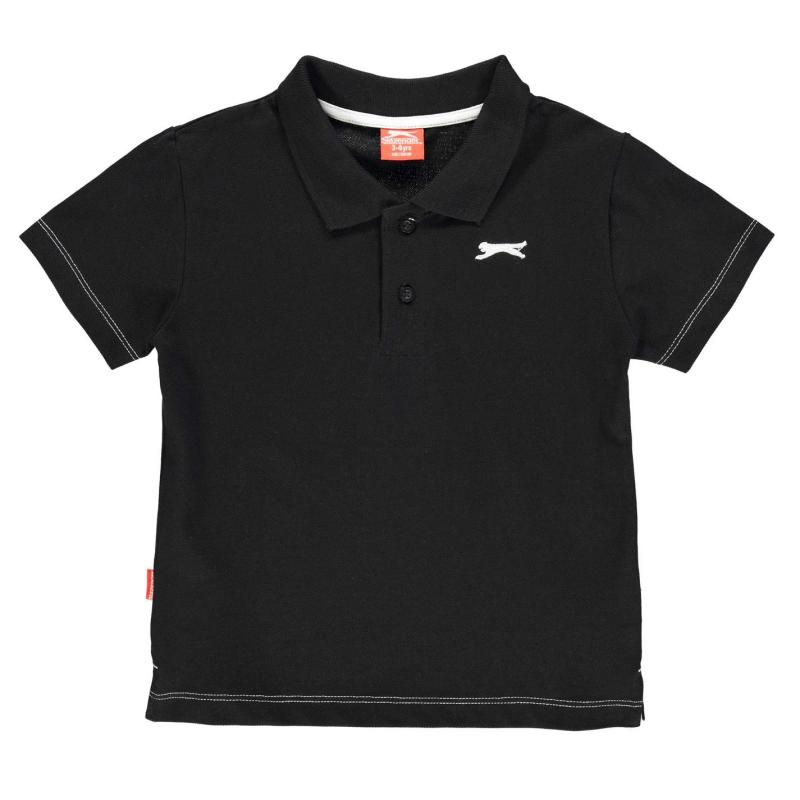 Slazenger Plain Polo Shirt Infant Boys Black