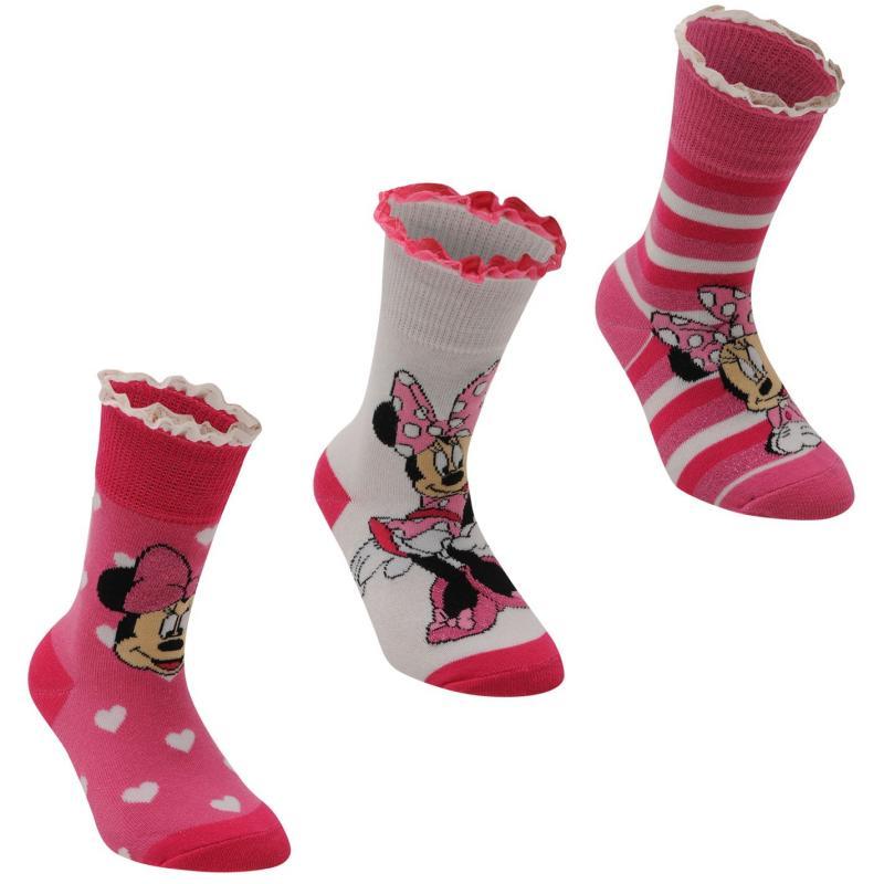 Disney 3 pack Crew Sock Girls Minnie