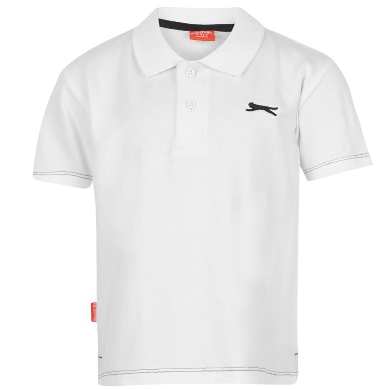 Slazenger Plain Polo Shirt Infant Boys White