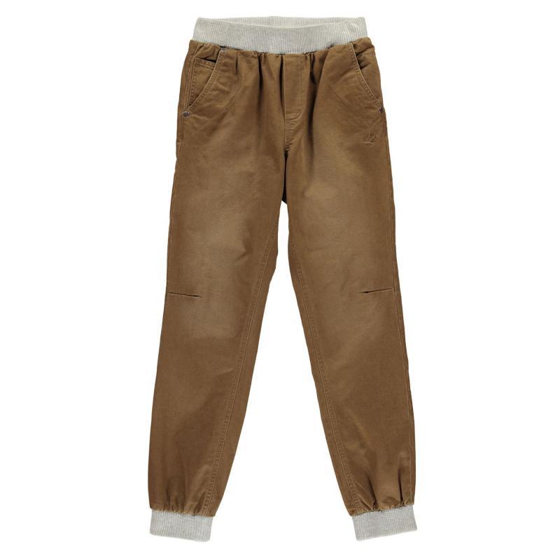 Kalhoty SoulCal Ribbed Waist Chino Junior Boys Coffee