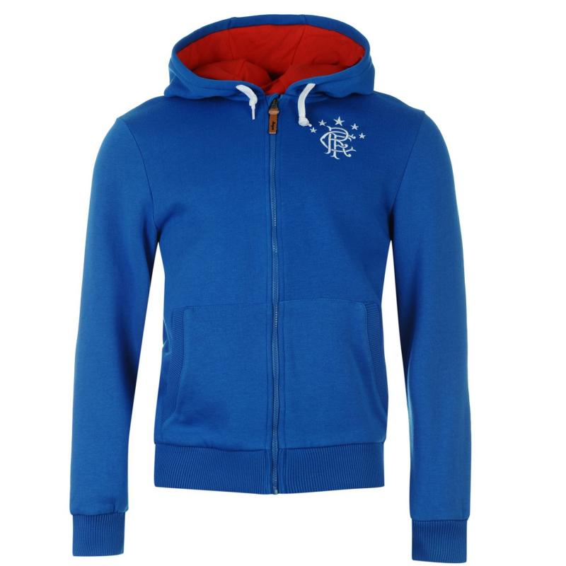 Mikina Team Rangers Zip Hoody Mens Royal