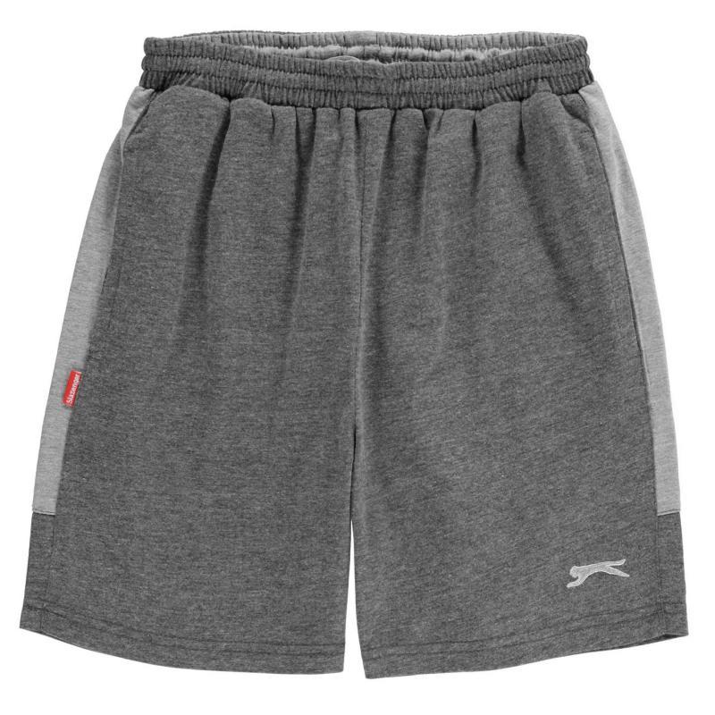 Kraťasy Slazenger Jersey Shorts Junior Boys Charcoal Marl