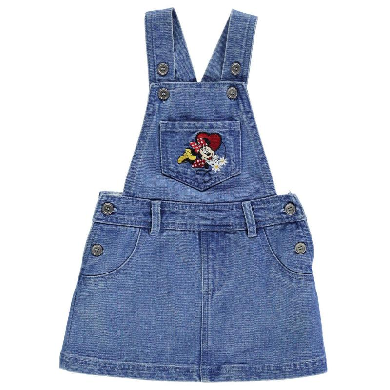 Disney Dungarees Dress Infant Girls Minnie Mouse