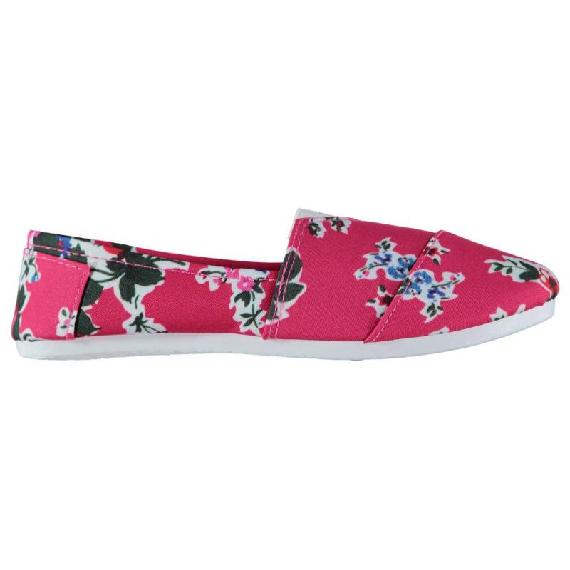 Full Circle Slip On Canvas Shoes Ladies Floral
