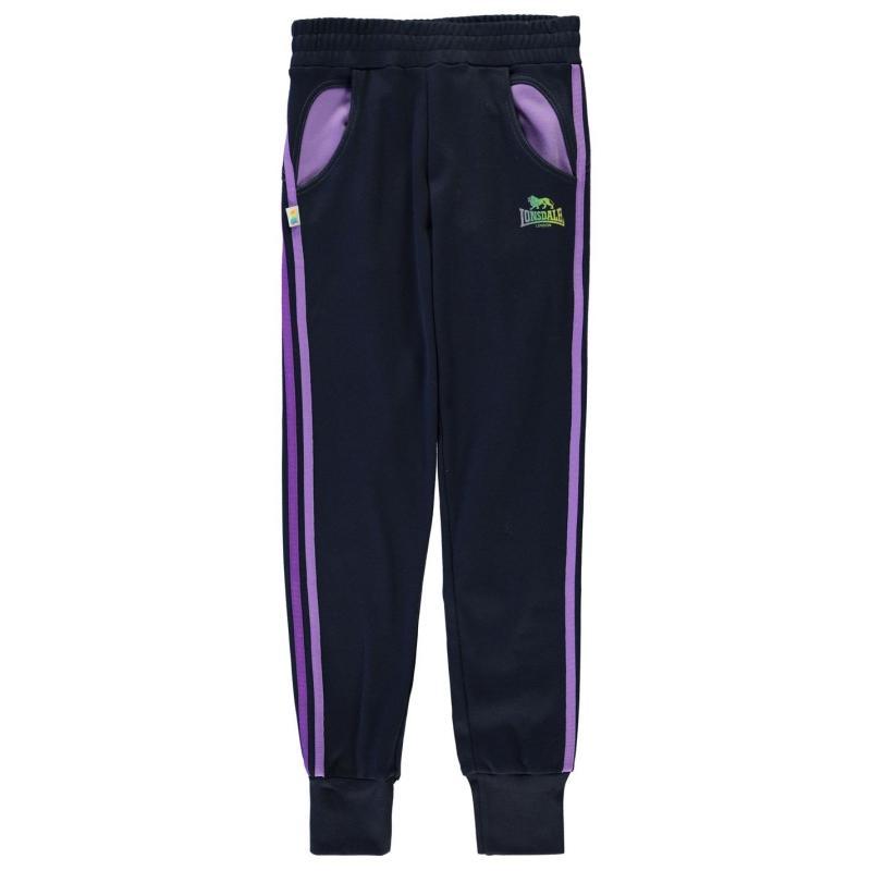 Lonsdale Closed Hem Sweatpants Junior Girls Navy/Purple