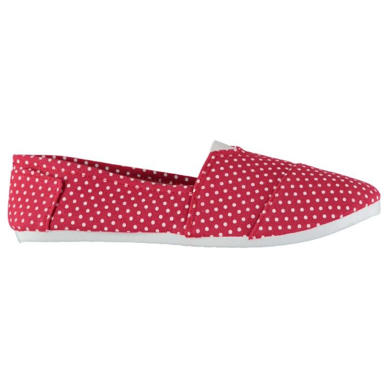 Full Circle Slip On Canvas Shoes Ladies Spot