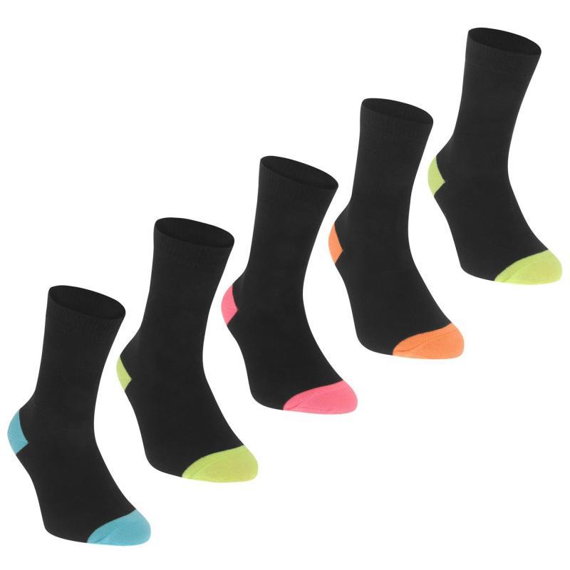 Ponožky Crafted 5PK Heel Toe Chd72 Black