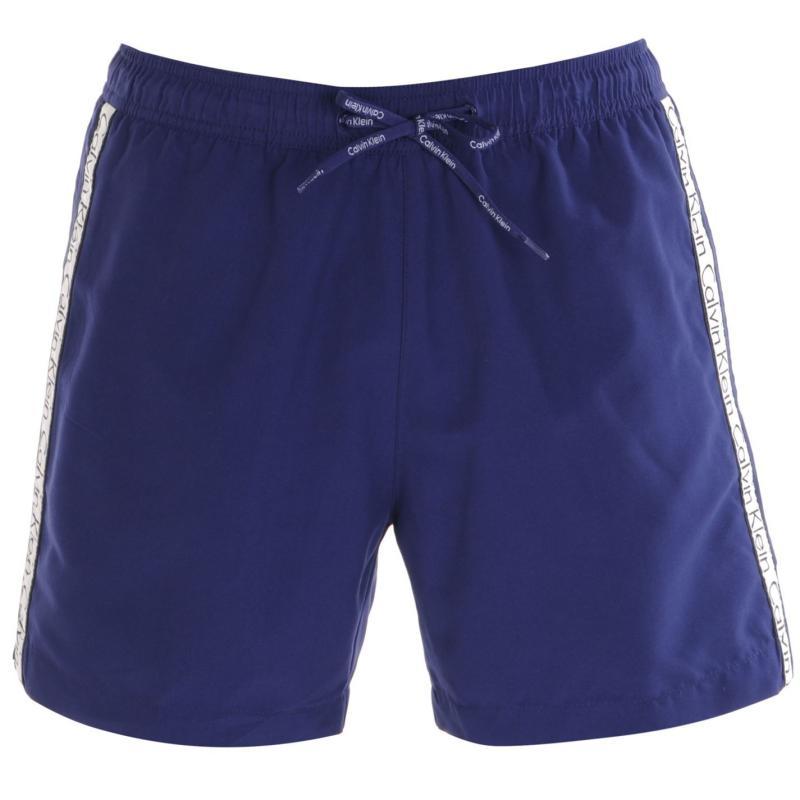 Calvin Klein Taped Drawstring Swim Shorts Navy