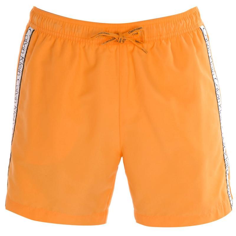 Calvin Klein Taped Drawstring Swim Shorts Orange