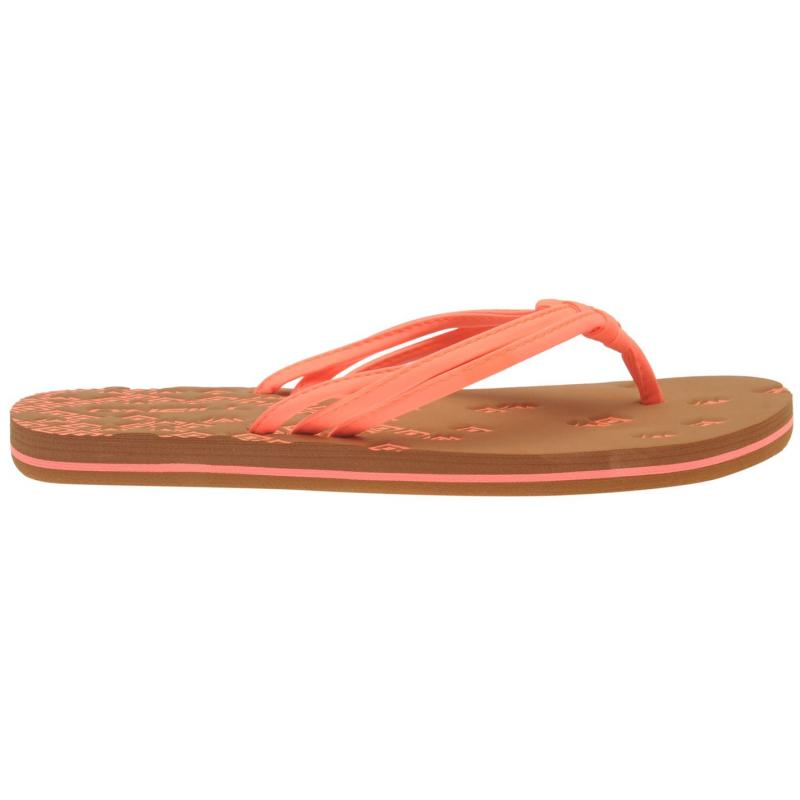 ONeill Ditsy Flip Flops Ladies Peach