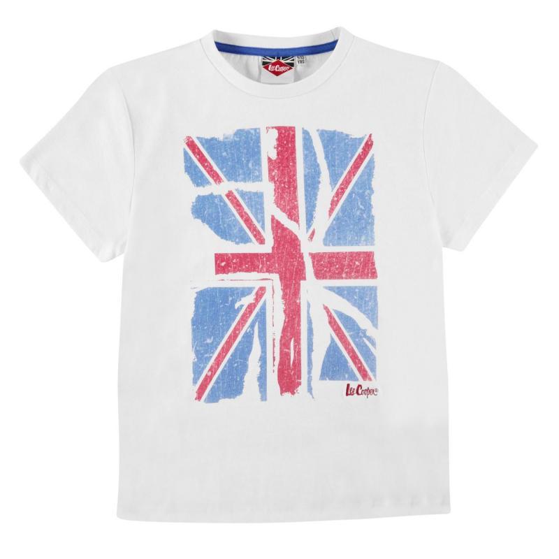 Tričko Lee Cooper LDN Graphic T Shirt Junior Boys White