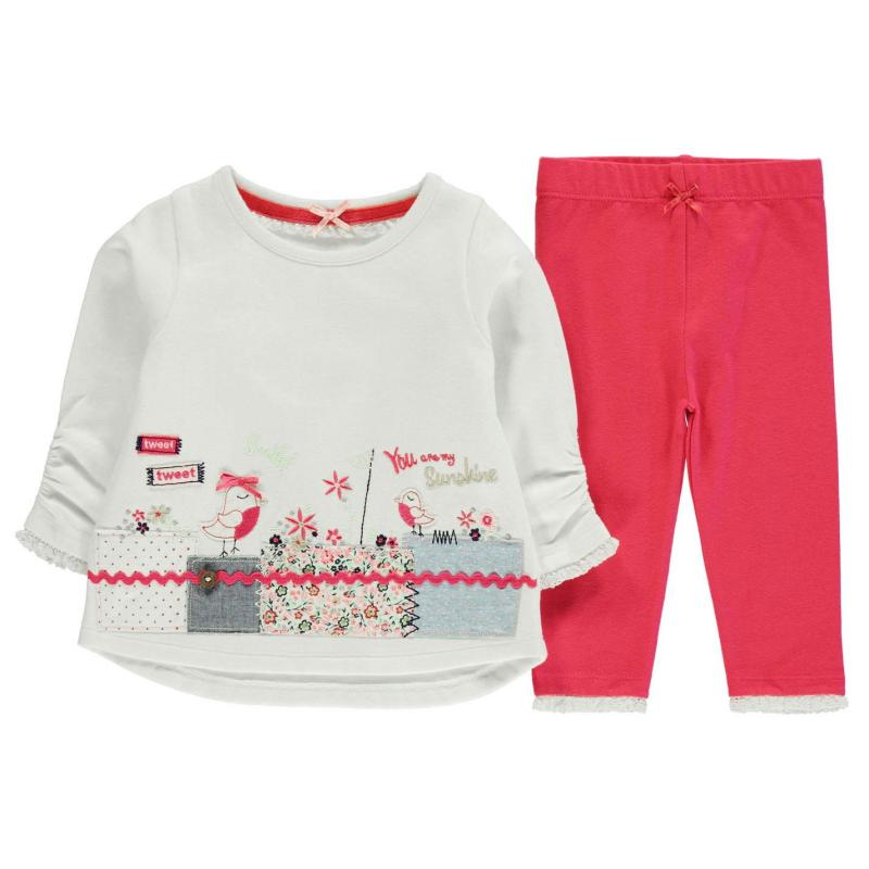 Crafted 2pc Crew Set72 Border Pink