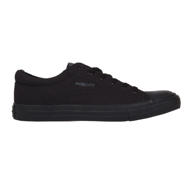 Dunlop Flash Canvas Shoes Mens Black/Black