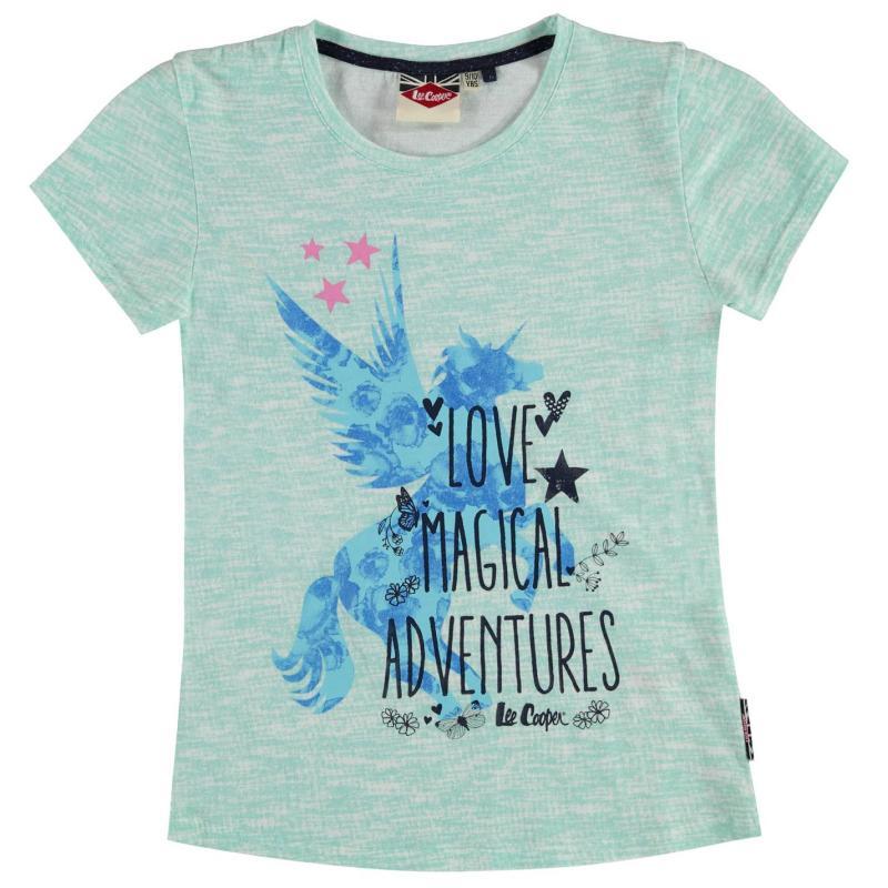 Lee Cooper Textile Print T Shirt Girls Mint