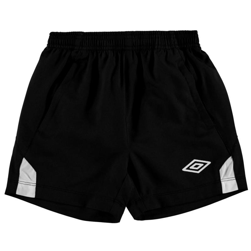 Kraťasy Umbro Training Woven Shorts Junior Boys Black/White