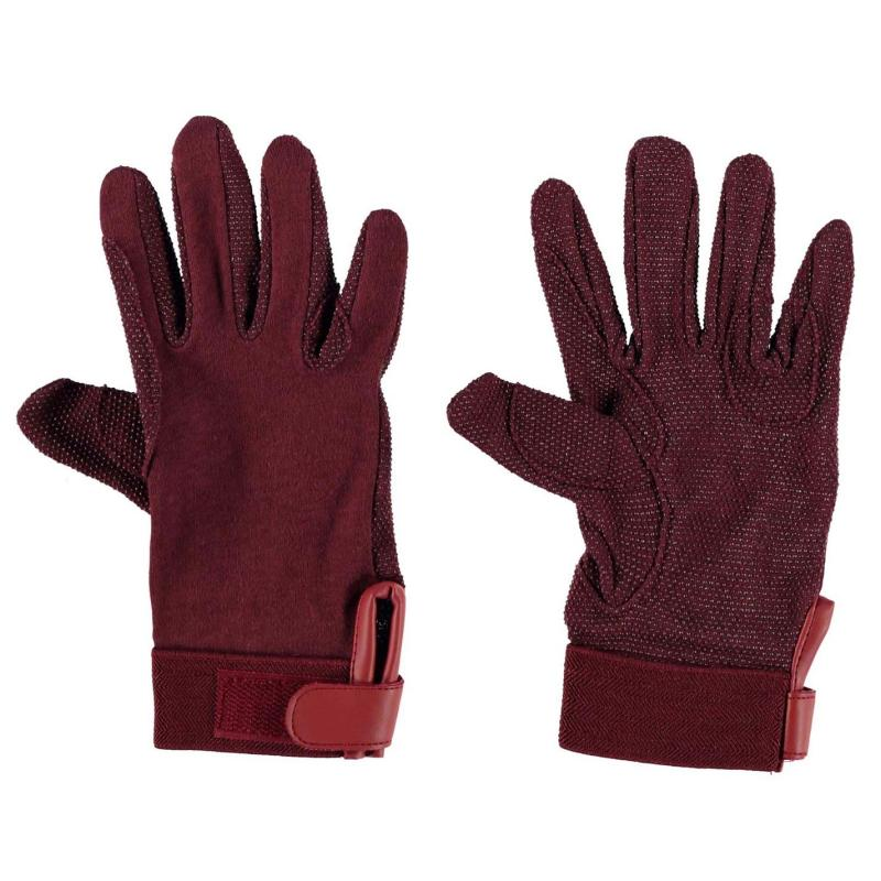 Tagg Pimple Palm Gloves Childs Burgundy