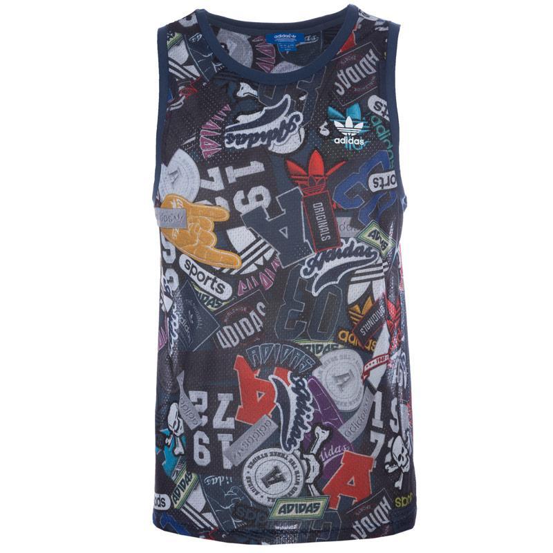 Tílko Adidas Originals Mens Allover Print Tank Top Multi colour