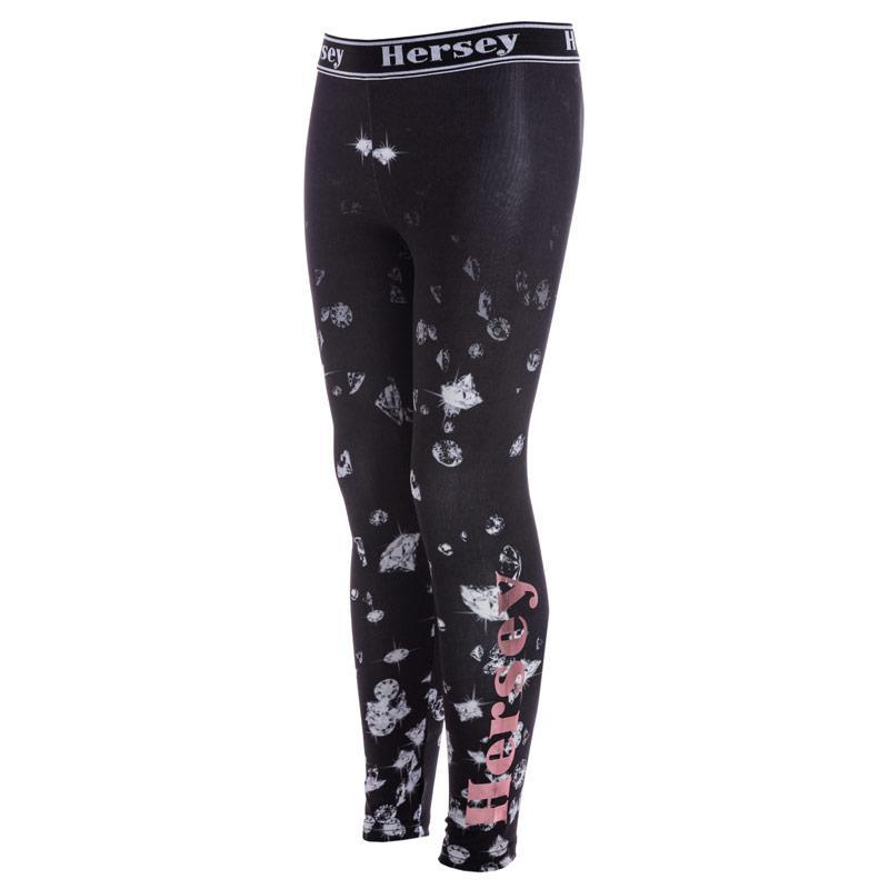 Beck And Hersey Junior Girls Pattern Leggings 79234 Black
