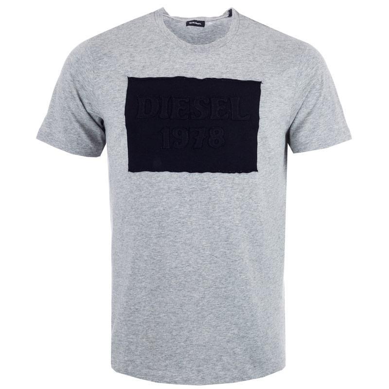 Tričko Diesel Mens T-Joe-HN T-Shirt Grey