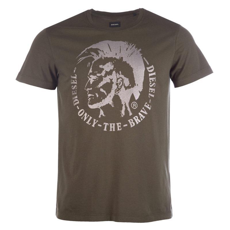 Tričko Diesel Mens T-Ulysse T-Shirt Grey