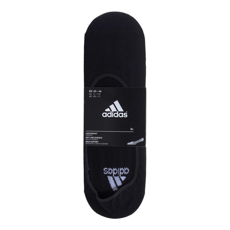 Spodní prádlo Adidas 3 Pack Invisible Socks Black-White