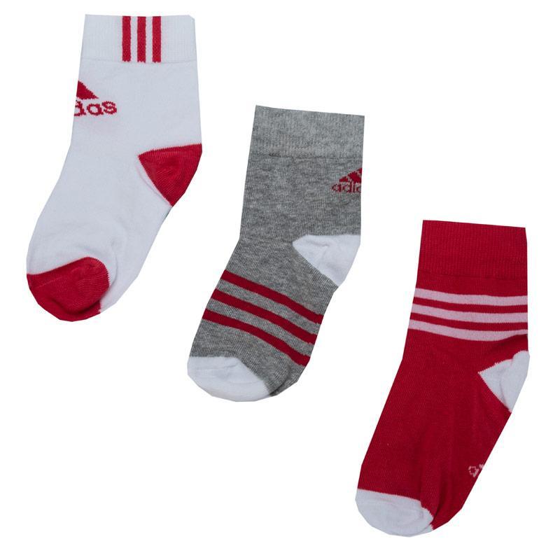 Ponožky Adidas Boys 3 Pack Socks Grey White