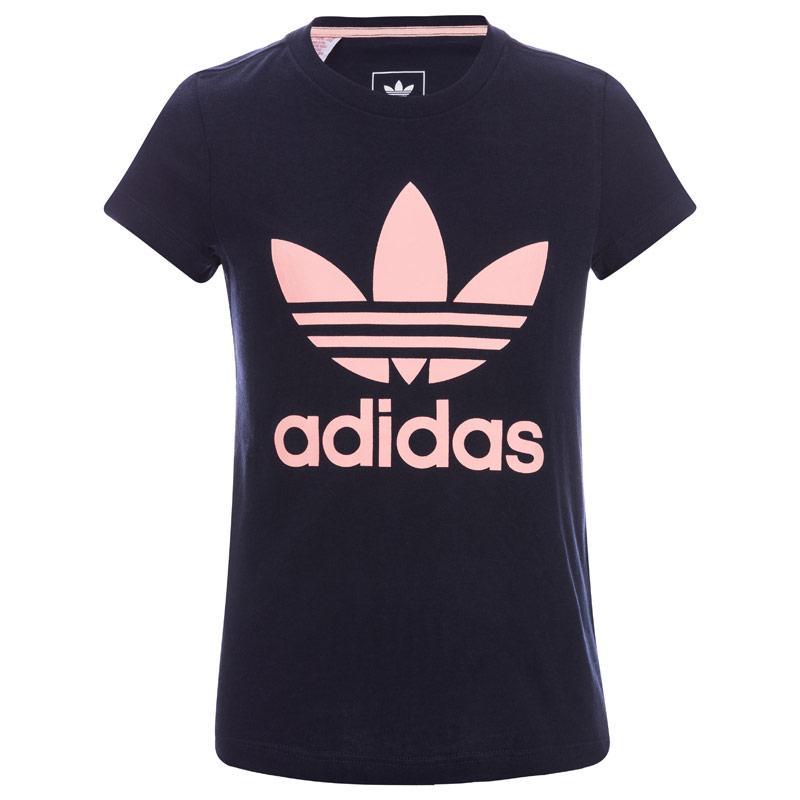 Adidas Originals Infant Girls Trefoil T-Shirt Pink