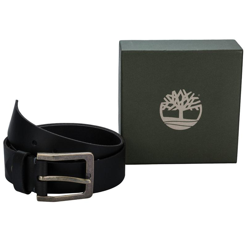 Timberland Mens Pull Up 40mm Belt Black