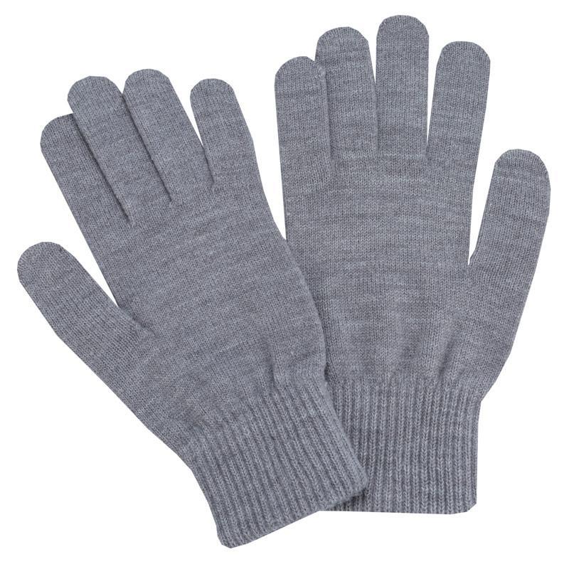 Adidas Originals Mens Trefoil Gloves Grey Marl