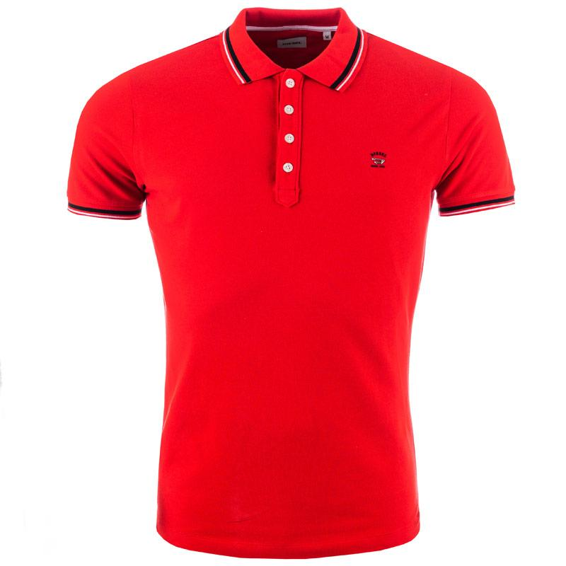 Diesel Mens T-Oin Polo Shirt Red