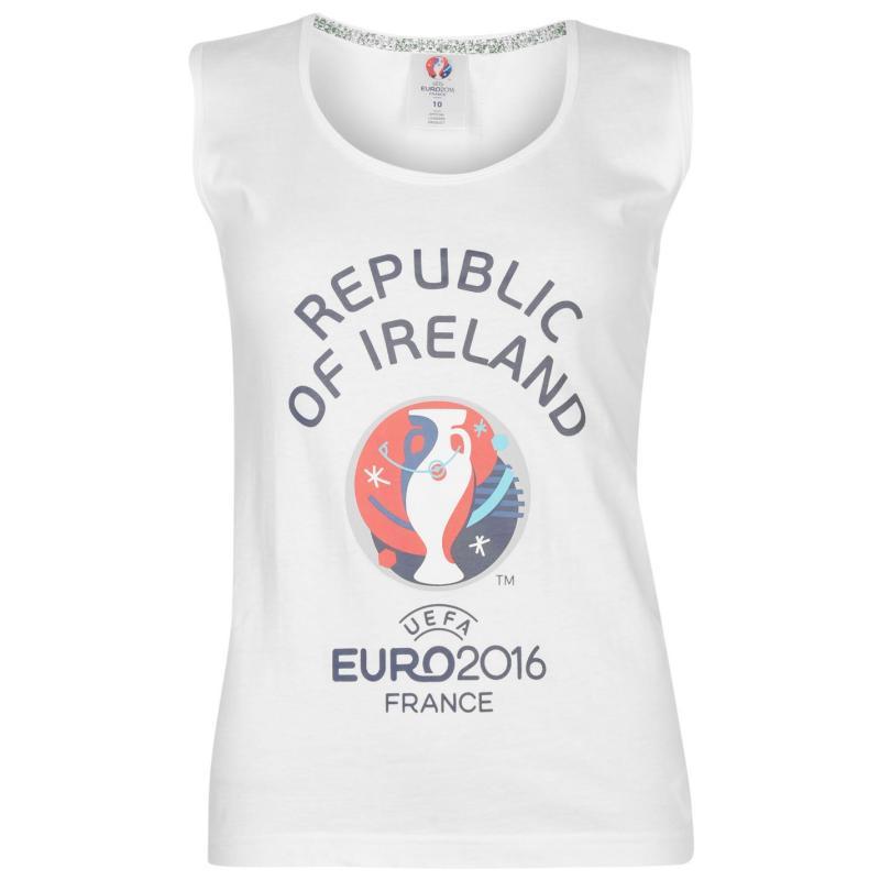 UEFA EURO 2016 Republic of Ireland Graphic Vest Ladies White