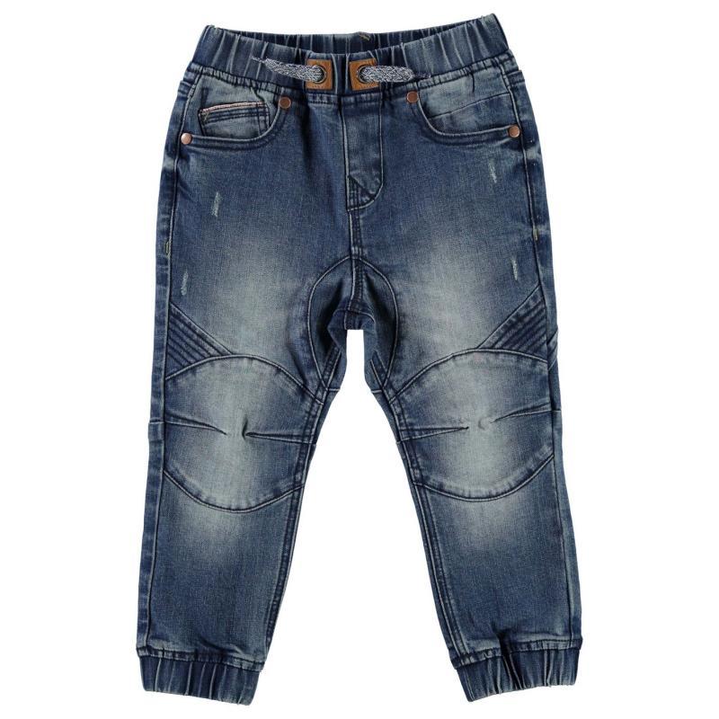 Kalhoty Crafted Elasticated Jeans Blue Denim