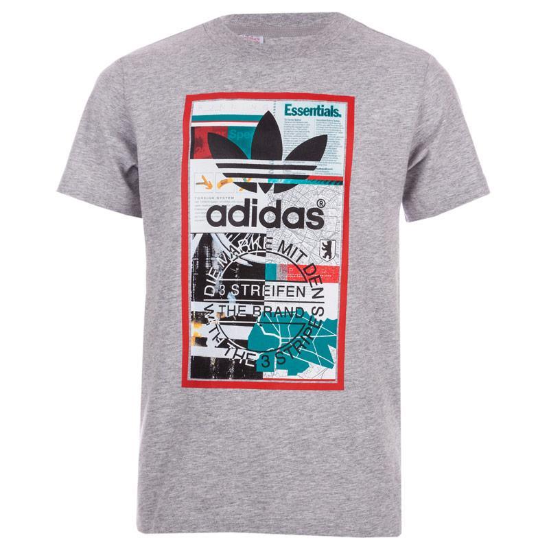 Tričko Adidas Originals Infant Boys Graphic Hologram T-Shirt Grey Heather
