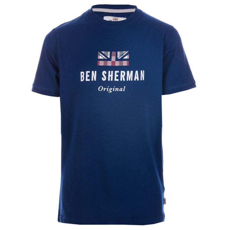 Tričko Ben Sherman Infant Boys Logo Carrier T-Shirt White
