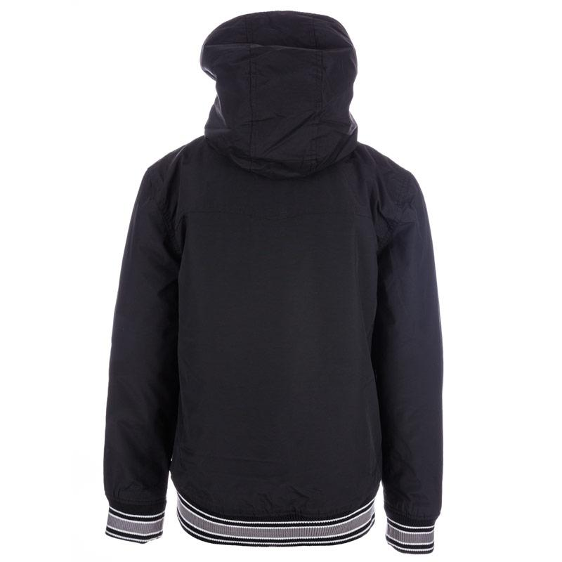 Bunda Ben Sherman Junior Boys Hooded Nylon Harrington Jacket Black