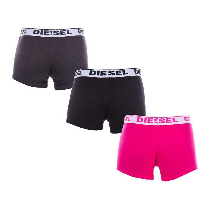 Spodní prádlo Diesel Men's Shawn 3 Pack Boxers black pink