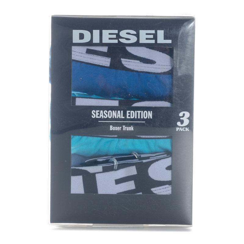 Spodní prádlo Diesel Men's Shawn 3 Pack Boxers blue navy