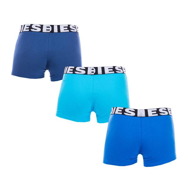 Spodní prádlo Diesel Men's Shawn 3 Pack Boxers Red Blue