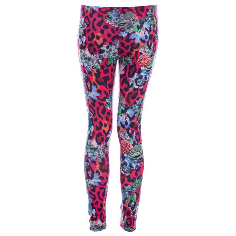 Adidas Originals Junior Girls S Rose Leggings Multi colour